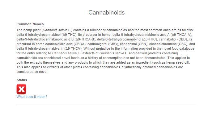 Novel-Food-Katalog Cannabinoide ab 2019