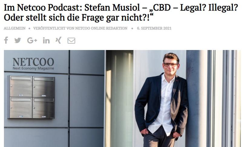 Aktuelles Interview des Fachmagazins NETCOO zu den Themen Herausforderung Direktvertrieb im Network und Cannabis - Hanf / CBD